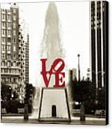 Love In Philadelphia Canvas Print by Bill Cannon