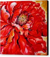 Love Is Forever  Red Peony Canvas Print