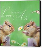 Love Is In The Air Canvas Print by Lori Deiter