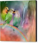 Love On A Rainbow Canvas Print by Carol Cavalaris