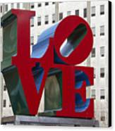Love Park In Center City - Philadelphia Canvas Print by Brendan Reals