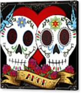 Love Skulls II Canvas Print