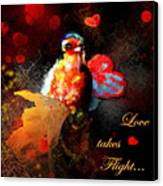 Love Takes Flight Canvas Print