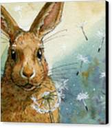 Lovely Rabbits - With Dandelions Canvas Print