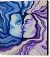 Lovers In Eternal Kiss Canvas Print