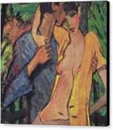 Lovers Canvas Print by Otto Muller