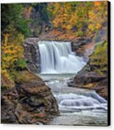 Lower Falls In Autumn Canvas Print by Rick Berk