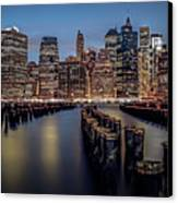 Lower Manhattan Skyline Canvas Print by Eduard Moldoveanu