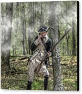 Loyalist Skirmisher  American Revolution Canvas Print by Randy Steele
