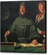 Luca Pacioli, Franciscan Friar Canvas Print by Science Source