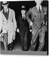 Lucky Luciano 1896-1962, Being Escorted Canvas Print by Everett