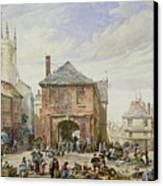 Ludlow Canvas Print by Louise J Rayner