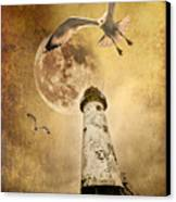 Lunar Flight Canvas Print by Meirion Matthias