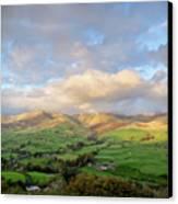 Lune Valley And Howgill Fells Canvas Print by David Barrett
