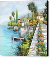 Lungolago Canvas Print by Guido Borelli