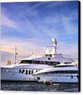 Luxury Yachts Canvas Print