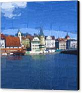 Luzern Lake Front Canvas Print