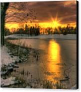 Lydiard Sunset Canvas Print