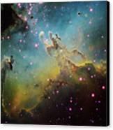 M16 The Eagle Nebula Canvas Print by Ken Crawford