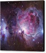 M42, The Orion Nebula Top, And Ngc Canvas Print by Robert Gendler