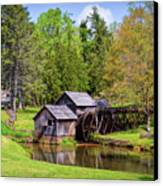 Mabry Mill In The Springtime On The Blue Ridge Parkway  Canvas Print by Kerri Farley
