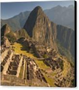 Machu Picchu At Dawn Near Cuzco Peru Canvas Print by Colin Monteath