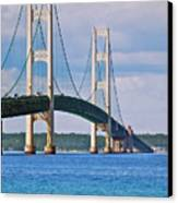 Mackinac Bridge Canvas Print by Michael Peychich