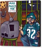 Mad Philly Fan In Texas Canvas Print