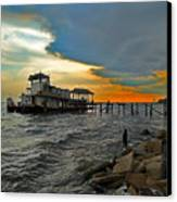 Madisonville Katrina Ghost Boat  Canvas Print