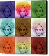 Madonna By Gbs Canvas Print by Anibal Diaz