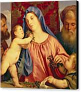 Madonna Of The Cherries With Joseph Canvas Print by Titian