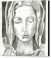 Madonna Of The Pieta Canvas Print by John Keaton
