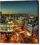 Madrid Cityscape Canvas Print by Photo by cuellar