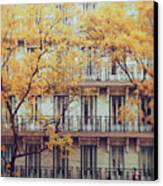 Madrid Facade In Late Autumn Canvas Print by Julia Davila-Lampe