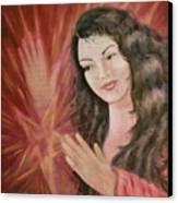 Magic - Morgan Le Fay Canvas Print by Bernadette Wulf