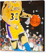 Magic Johnson Canvas Print by Estelle BRETON-MAYA
