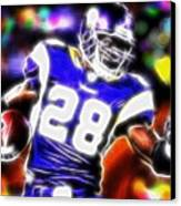 Magical Adrian Peterson   Canvas Print by Paul Van Scott