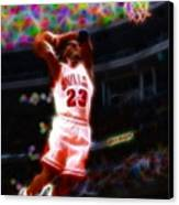 Magical Michael Jordan White Jersey Canvas Print by Paul Van Scott