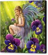 Magical Pansies Canvas Print by Anne Wertheim