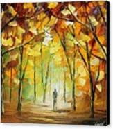 Magical Park Canvas Print by Leonid Afremov