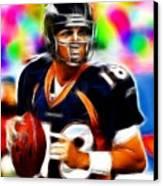 Magical Peyton Manning Borncos Canvas Print by Paul Van Scott