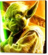 Magical Yoda Canvas Print by Paul Van Scott