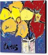 Magnolia Y Colores Canvas Print by Carlos Camus