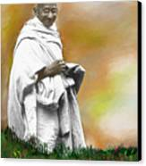 Mahatma Ghandi Canvas Print by C A Soto Aguirre