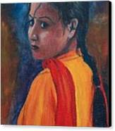 Maiden Of Color Canvas Print