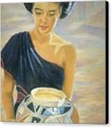 Maiden Of The Mesa Canvas Print by Ann Peck