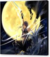 Maikaze Full Moon Canvas Print