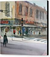 Main Street Marketplace - Waupaca Canvas Print by Ryan Radke