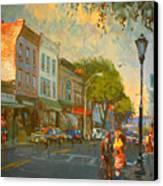 Main Street Nyack Ny  Canvas Print by Ylli Haruni