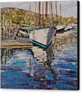 Maine Coast Boat Reflections Canvas Print